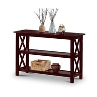 Cappuccino Wood Sofa Table Bookshelf