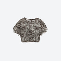 CROP TOP - Blouses-TOPS-WOMAN | ZARA United States