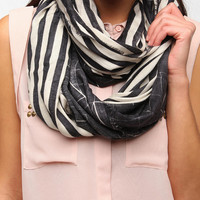 Deena & Ozzy Interrupted Stripe Eternity Scarf