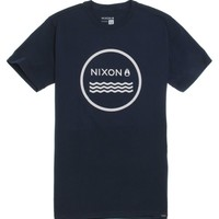 Nixon Waves II T-Shirt - Mens Tee - Blue