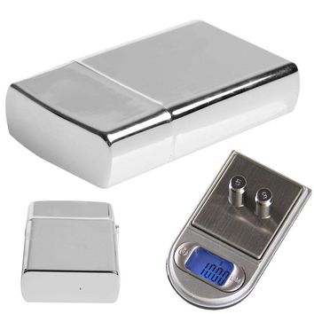 200g x 0.01g Lighter Style LCD Digital Jewelry Gram Balance Weight Pocket Scale 1x CR2032 Battery (not included)