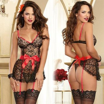 On Sale Cute Hot Deal Sexy Lace Butterfly Spaghetti Strap Exotic Lingerie [10236785036]