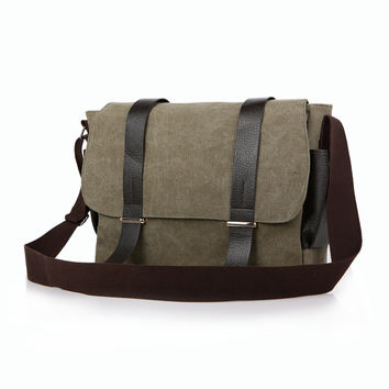 Canvas One Shoulder Stylish Casual Velcro [10648211523]