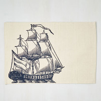 Nautical All Sail the Queen Rug by ModCloth