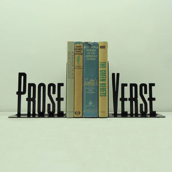 Prose Verse Metal Art Bookends - Free USA Shipping