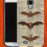 Vintage Dictionary Bats,Accessories,Case,Cell Phone,iPhone 4/4S,iPhone 5/5S/5C,Samsung Galaxy S3,Samsung Galaxy S4,Rubber,27-11-17-Hk