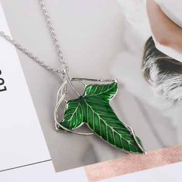 The Lord of the Rings Elven Leaf Brooch and Necklace