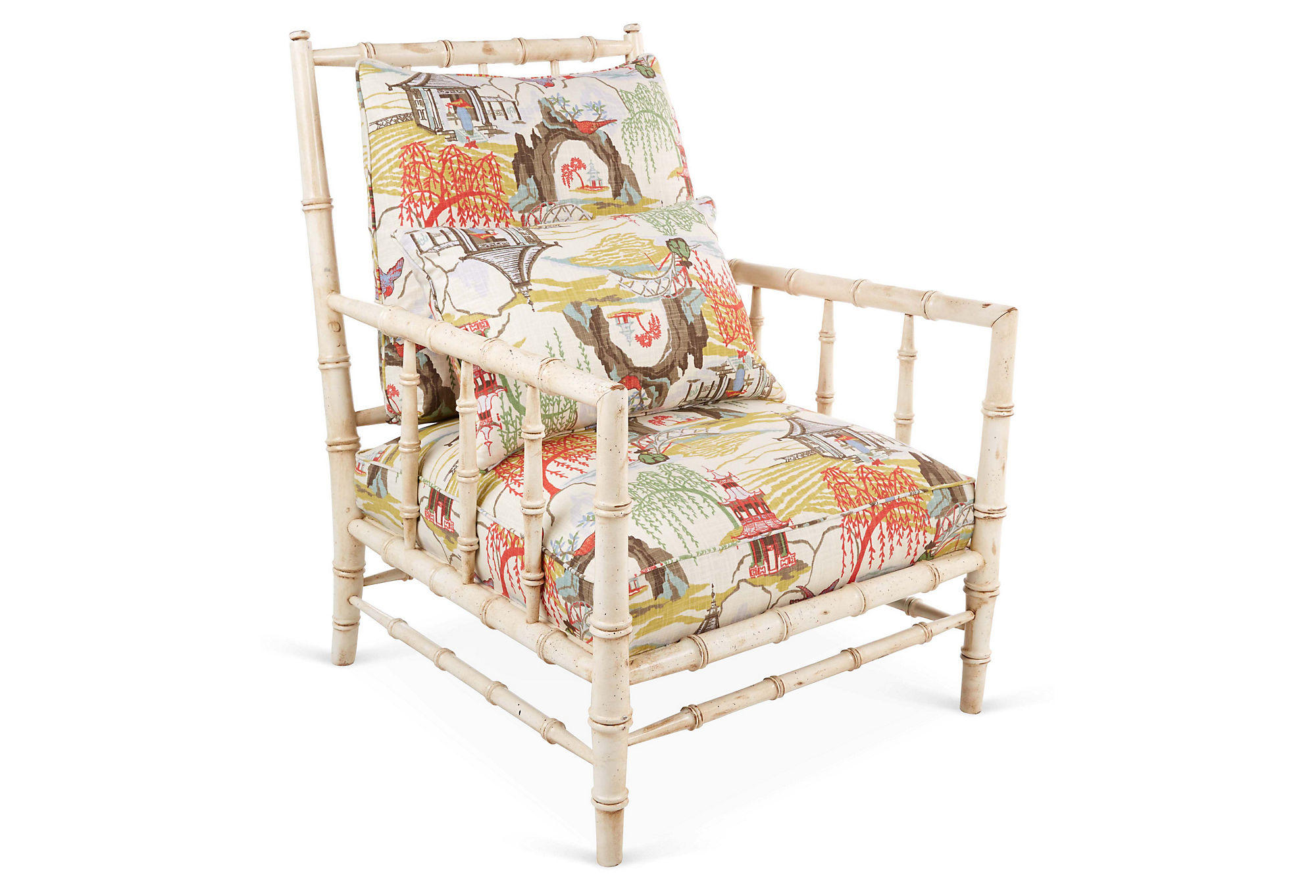 Brissac Chair Neo Toile from One Kings Lane Summer Decor