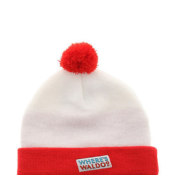 Where's Waldo White And Red Beanie | Hot Topic