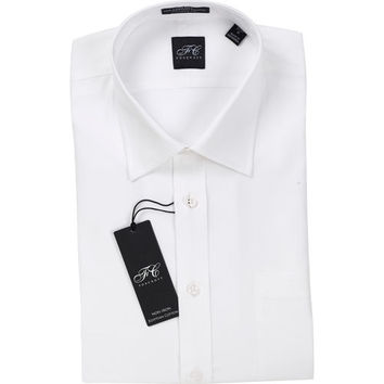Foxcroft Men's Egyptian Cotton Tailored Fit Dress Shirt - White