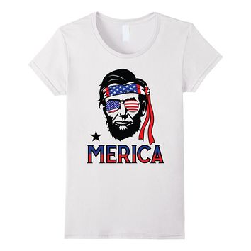 Merica Funny Abe Lincoln 4th of July Hip American T shirt