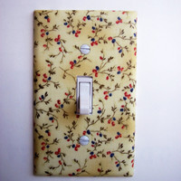 Summer Floral Sprigs Single Toggle Switchplate