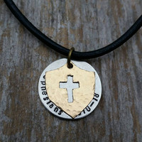 Armor of God necklace - Ephesians 6:10-18 -  Shield of Faith