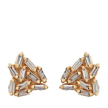 Suzanne Kalan Gold Diamond Firework Earrings | Harrods.com