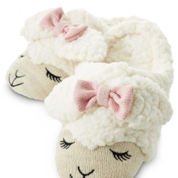 Cream Lambie Count Sheep Slippers   - Bath & Body Works   - Bath & Body Works
