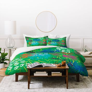Vy La Bold Breezy Green Duvet Cover