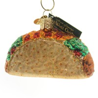 Old World Christmas TACO. Glass Ornament Mexican Fast Food 32084