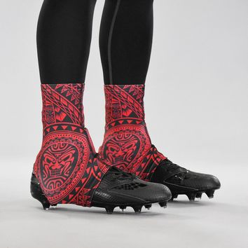 Oceanic Warrior Red and Black Spats / Cleat Covers