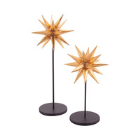 Sparkle Set of 2 Table Decor Black,Gold