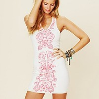 Free People Coral Gaze Dress