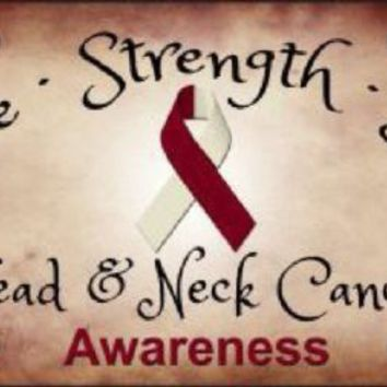Head and Neck Cancer Awareness Hope Strength Love  Tag