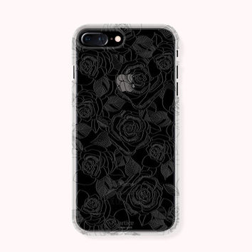 Floral iPhone 7 Case, iPhone 7 Plus Case, iPhone 6/6S Case, iPhone 6/6S Plus Case, iPhone 5/5S/SE Case, SAMSUNG Galaxy Case - Rose Line