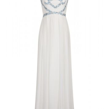 Delphina White Embellished maxi dress - Dresses - Clothing
