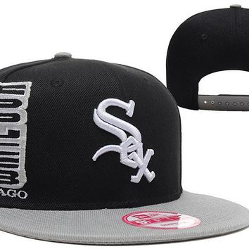 PEAPON Chicago White Sox 9FIFTY MLB Baseball Hat Black