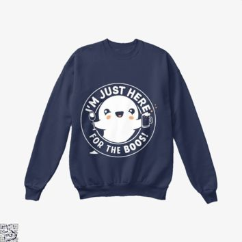 I'm Just Here For The Boos Cute Halloween, Halloween Crew Neck Sweatshirt