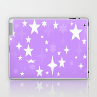 Lavender & White Atomic Stars Laptop & iPad Skin by 2sweet4words Designs | Society6
