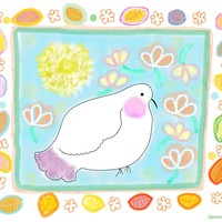Peace dove with butterflies and leaves by Orte Ruiz Designs on Crated