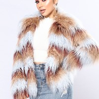 Such A Show Off Faux Fur Jacket - Multi