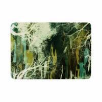 "Iris Lehnhardt ""Tree Of Life Green"" Nature Green Memory Foam Bath Mat"