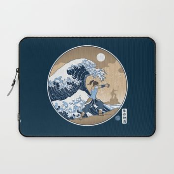 The Great Wave of Republic City Laptop Sleeve by adho1982
