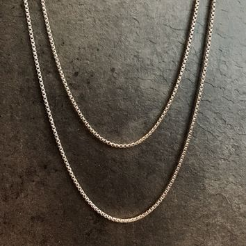 """""""Living On a Thin Line"""" Stainless Chain Necklaces (7 Lengths)"""