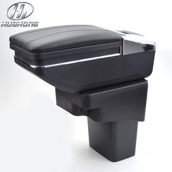 Update 8th For Hyundai Solaris / Verna / Grand Avega armrest box central Store content box with cup holder ashtray accessories