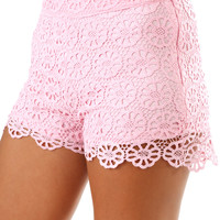 The Royal Treatment Shorts: Baby Pink