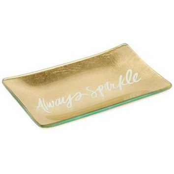 Hallmark Always Sparkle Ceramic Trinket Tray