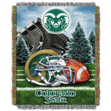 """Colorado State Rams NCAA Woven Tapestry Throw (Home Field Advantage) (48x60"""")"""""""