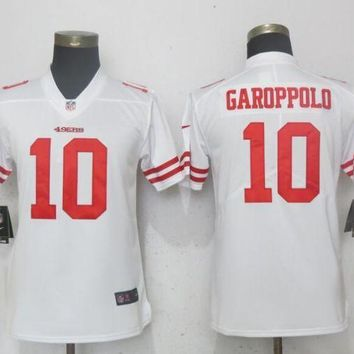 Women Nike San Francisco 49ers 10 Garoppolo White 2017 Vapor Untouchable Elite Player