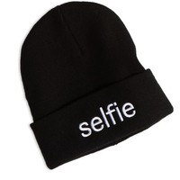 AEO Women's Selfie Beanie (True Black)