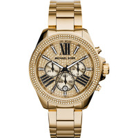 Wren Full Pave Golden Stainless Steel Watch - Michael Kors