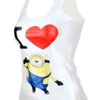 Despicable Me Print Minions Stuart Tank Top