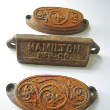 Antique Drawer Pulls Hardware Rustic From Zomaleevintage On