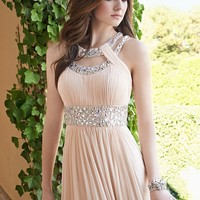 Chiffon Double Cleo Neck Dress with Open Back from Camille La Vie and Group USA
