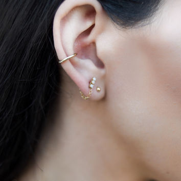 Tristen Ear Cuff 14k Gold Fill