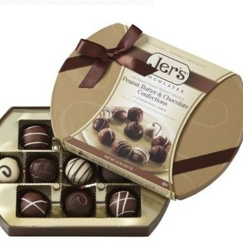 Jer's Chocolates 11 Piece Gift Box (8oz) Elegant Gold