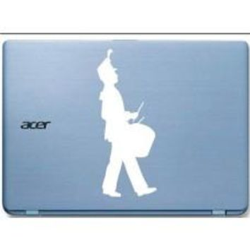 Drummer Marching Band Tablet Decal Sticker Laptop cover Macbook Pro Apple Wall Design Decal Keyboard Design Decal Sticker Vinyl Decal