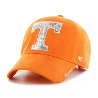 NCAA Tennessee Volunteers Women's '47 Sparkle Sequin Clean Up Adjustable Hat, Vibrant Orange