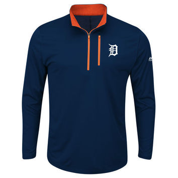 MLB Detroit Tigers Men's Big and Tall 643 Half-Zip Pullover Jacket